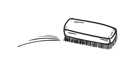 cleaning up: sketch of the brush and cleaning up, isolated