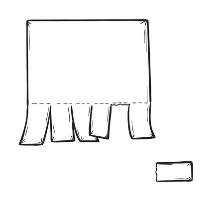 detached: dibujo del papel en blanco y separado de una pieza, aislado