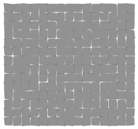 deformed: abstract gray deformed squares on the white background