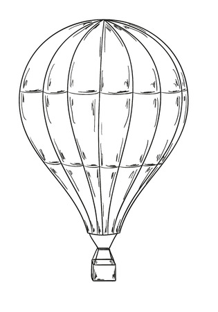 hot air balloon: sketch of the balloon on white background Illustration