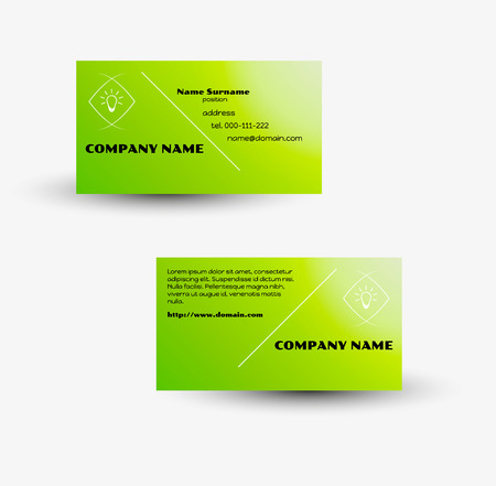 Modern green business card vector template with green gradient modern green business card vector template with green gradient background stock vector 27455590 friedricerecipe Images
