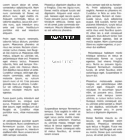 newspaper headline: Vector unsharp newspaper with empty place for your text or advertisement