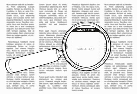 Vector unsharp newspaper with empty place for your text or advertisement Vector