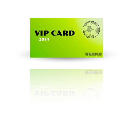 Modern VIP card template vector with reflection Stock Vector - 27455302