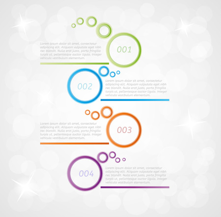 four steps infographics on gray gradient background Vector