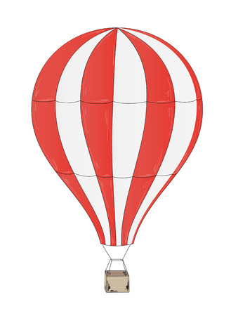 baloon: sketch of the balloon on white background Illustration