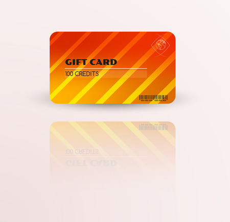 Modern gift card template vector with reflection Illustration