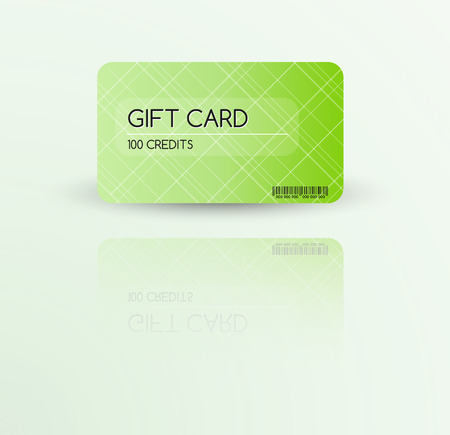 flamed: Modern gift card template vector with reflection Illustration
