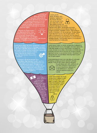 infographic vector balloon with text and icons Vector