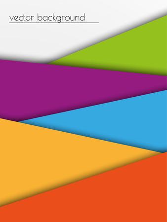 geteilt: bunten Hintergrund mit Farb Teile geteilt und Schatten Illustration