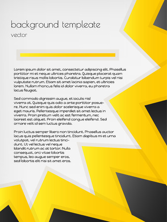 infographic background template with gold and black triangles on gray background Vector