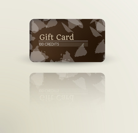 modern gift card template with reflection Vector