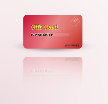 modern gift card template with reflection Illustration