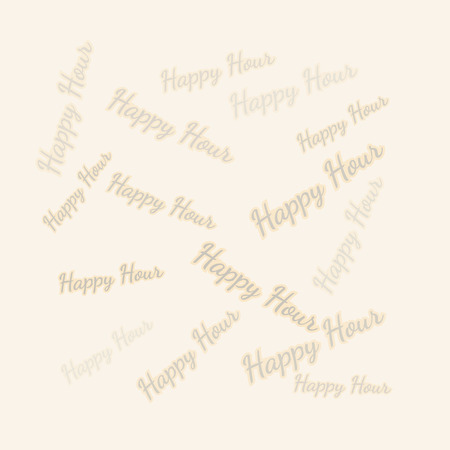 vector of the happy hour background with different text Vector