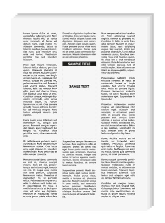 unreadable: vector newspaper with empty place for your text or advertisement