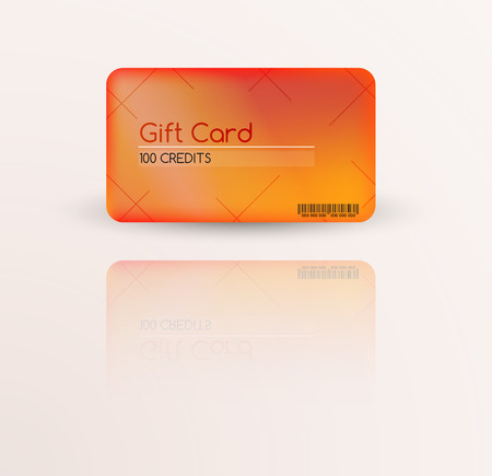 flamed: modern gift card template vector with reflection