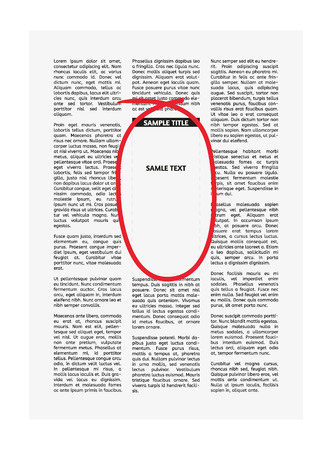 vector newspaper with highlighted empty place for your text or advertisement