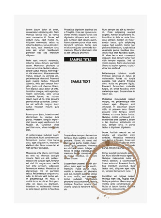 vector newspaper with empty place for your text and coffee cup print