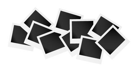 vector illustratie, de verzameling van de lege fotolijst
