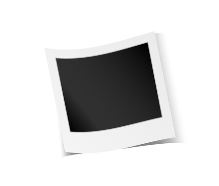 white polaroids: vector illustration of the blank photo and shadow Illustration