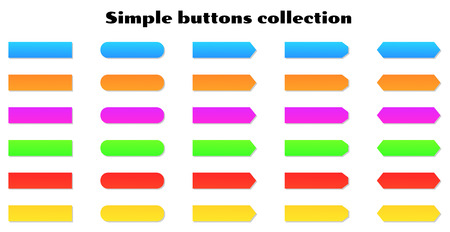vector illustration of the color simple buttons Vector