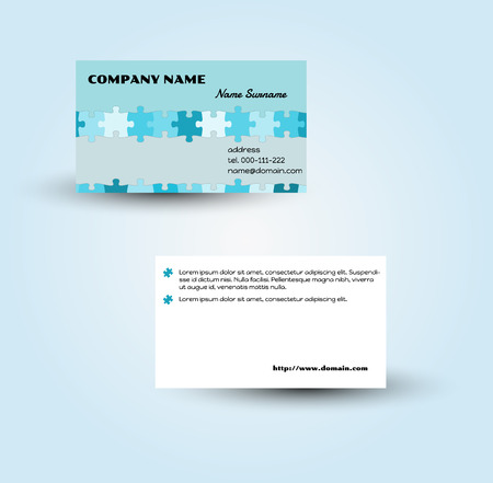 vector template of the modern business card Vector