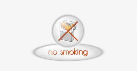 no smoking buttons with pack of cigarettes, vector Vector