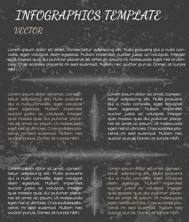 shinning: Infograf�a retro con elementos oscuros brillando blancas Vectores