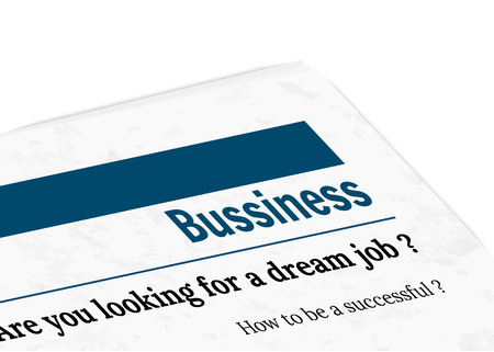listings: newspaper with grunge effect - employment Illustration