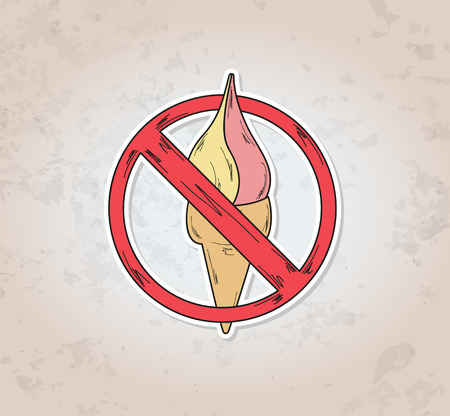 dont: sign entry ban ice cream