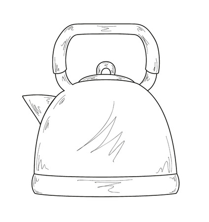 percolator: sketch of the coffee maker Illustration
