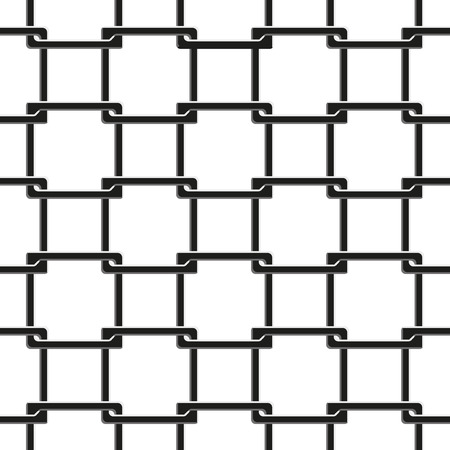 chainlink fence: seamless pattern of chain fence on white background Illustration