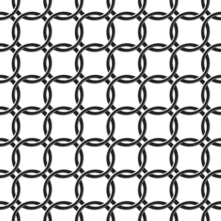 seamless pattern of chain fence on white background Vector
