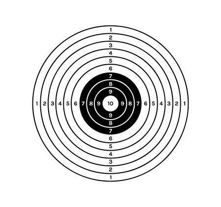 Cibler avec des cercles de couleur noir et blanc et des valeurs différentes Banque d'images - 30312513