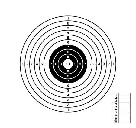 richten met zwarte en witte kleur cirkels en verschillende waarden