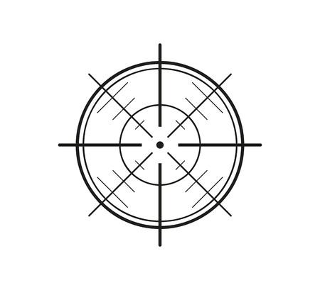 radar gun: crosshair of the gun on white background, vector