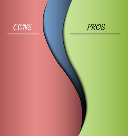 cons: red and green parts with pros and cons