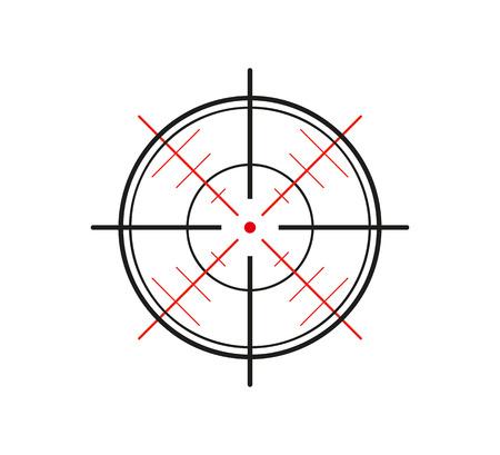 crosshair van het pistool op een witte achtergrond Stock Illustratie