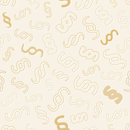 seamless pattern with paragraph symbols on yellow background, vector Vector
