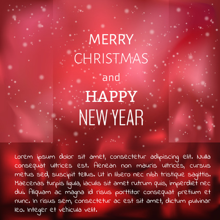 red abstract christmas background with merry christmas text Vector