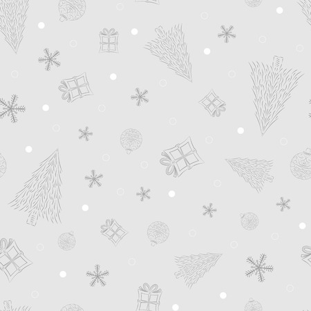 christmas background with ornaments, vector, seamless pattern Vector