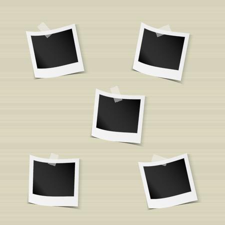 ベクトル図では、空白のフォト フレームのコレクション