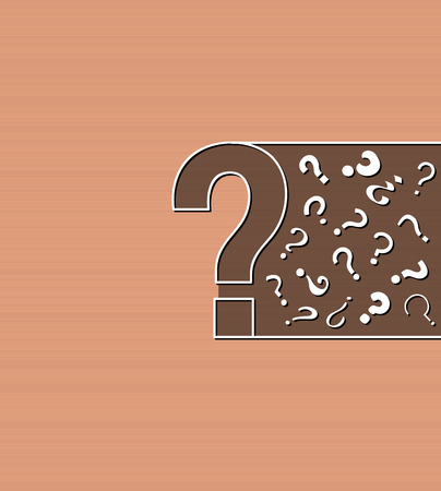 background with question marks on brown background, vector Vector