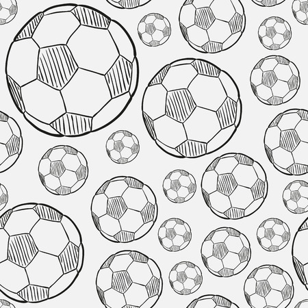 sketch of the football ball on white background Ilustração