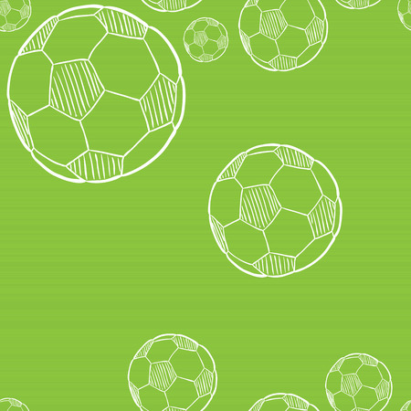 sketch of the football ball on green background Vector