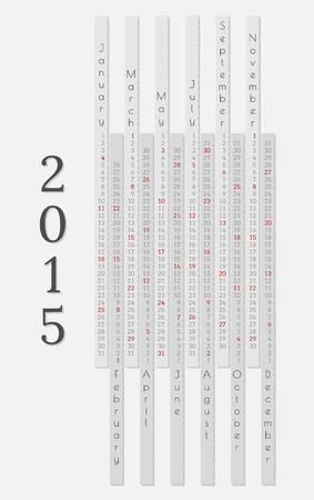 monthly calendar 2015 on gray background