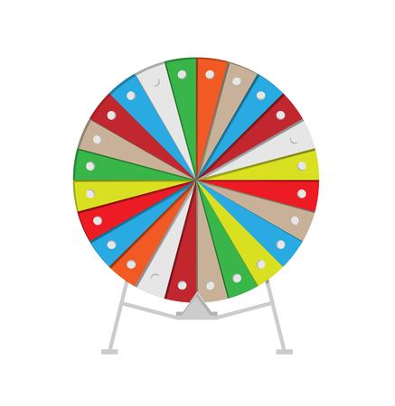 colorful wheel of fortune on white background Vector