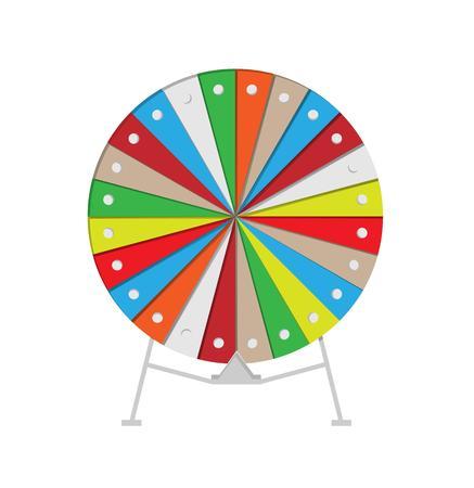 roulette: ruota colorata di fortuna su sfondo bianco