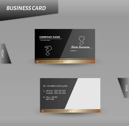vector template of the business card, modern design Vector