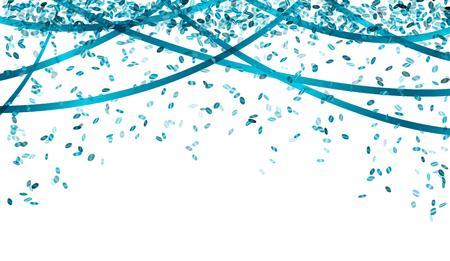 Confettis tombant ovale et rubans de couleur bleue Banque d'images - 34139581